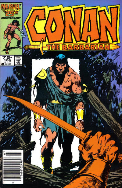 Cover for Conan the Barbarian (Marvel, 1970 series) #184 [Direct Edition]