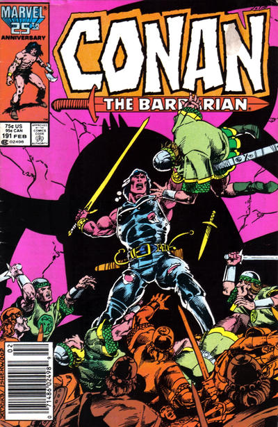Cover for Conan the Barbarian (Marvel, 1970 series) #191 [Direct Edition]