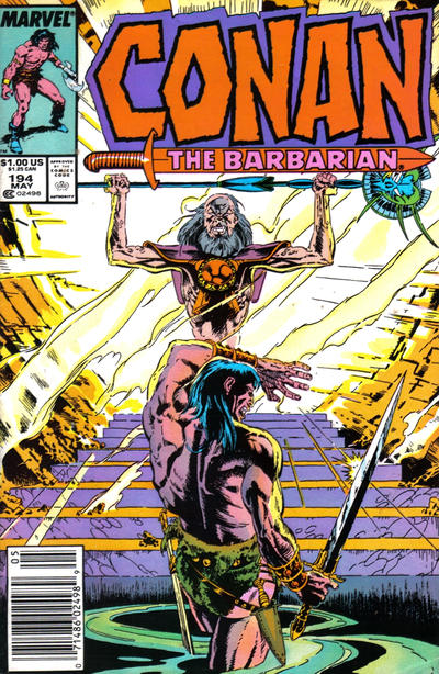 Cover for Conan the Barbarian (Marvel, 1970 series) #194 [Newsstand Edition]