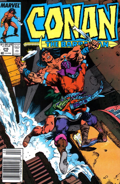 Cover for Conan the Barbarian (Marvel, 1970 series) #215 [Direct Edition]