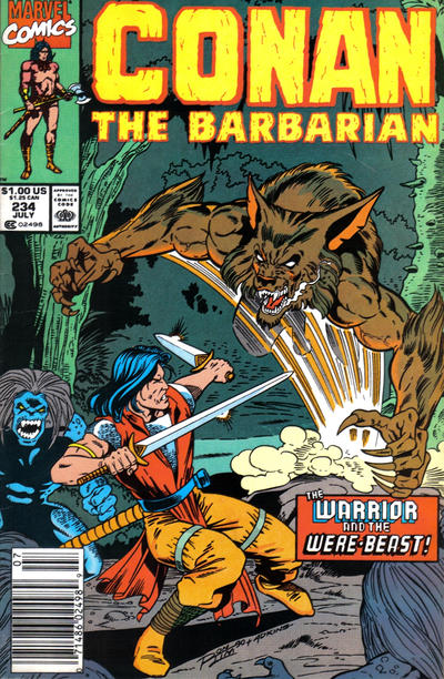 Cover for Conan the Barbarian (Marvel, 1970 series) #234 [Direct Edition]