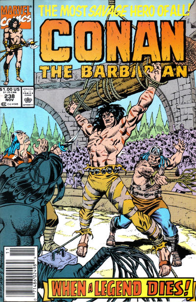 Cover for Conan the Barbarian (Marvel, 1970 series) #238 [Direct]