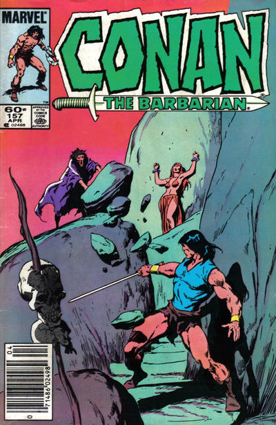 Cover for Conan the Barbarian (Marvel, 1970 series) #157 [Newsstand Edition]