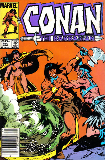 Cover for Conan the Barbarian (Marvel, 1970 series) #159 [Newsstand Edition]