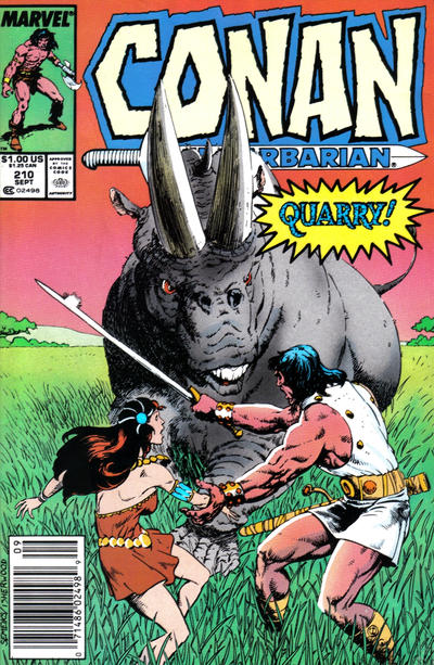 Cover for Conan the Barbarian (Marvel, 1970 series) #210 [Direct]