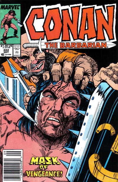 Cover for Conan the Barbarian (Marvel, 1970 series) #222 [Direct Edition]