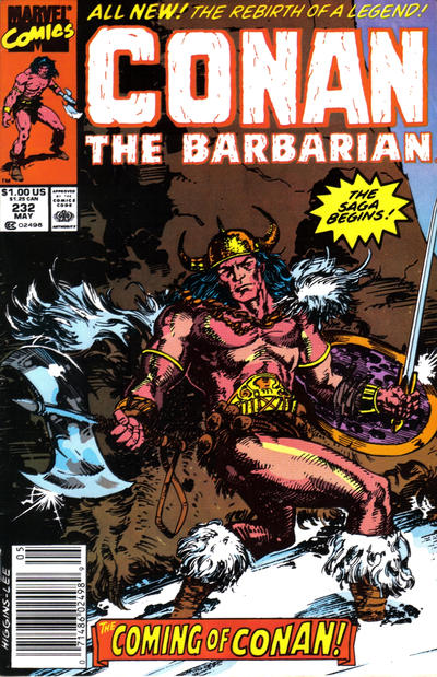 Cover for Conan the Barbarian (Marvel, 1970 series) #232 [Newsstand Edition]