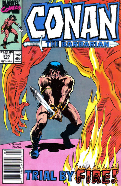 Cover for Conan the Barbarian (Marvel, 1970 series) #230 [Direct Edition]