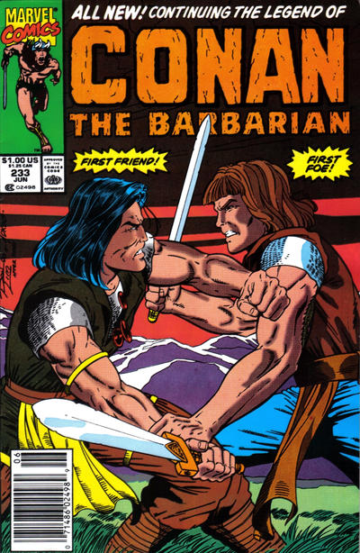 Cover for Conan the Barbarian (Marvel, 1970 series) #233 [Newsstand Edition]