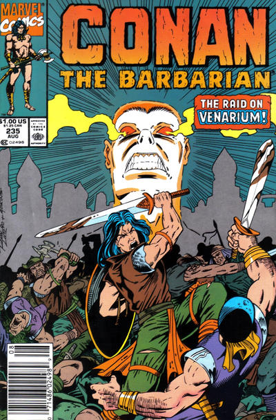 Cover for Conan the Barbarian (Marvel, 1970 series) #235 [Newsstand Edition]