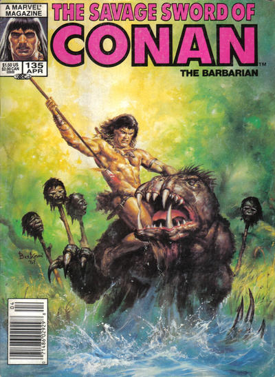 Cover for The Savage Sword of Conan (Marvel, 1974 series) #135 [Newsstand Edition]