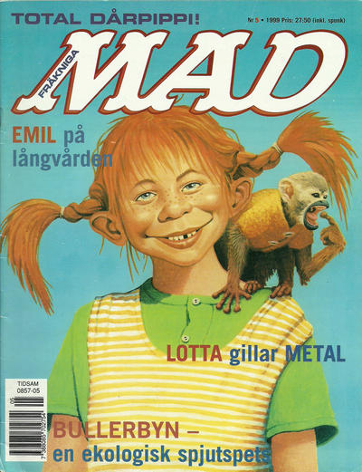 Cover for Svenska Mad (Atlantic Förlags AB, 1997 series) #5/1999
