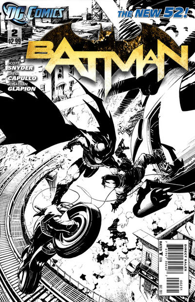 Cover for Batman (DC, 2011 series) #2 [Greg Capullo Variant Sketch Cover]
