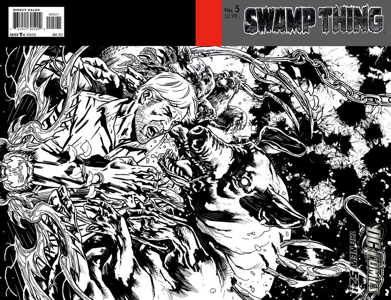 Cover for Swamp Thing (DC, 2011 series) #5 [Yanick Paquette Variant Sketch Cover]