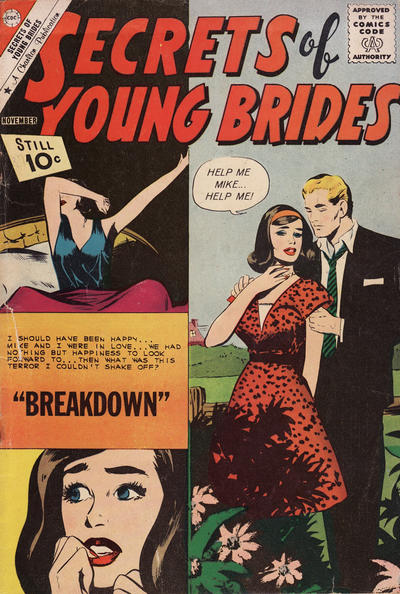 Cover for Secrets of Young Brides (Charlton, 1957 series) #28