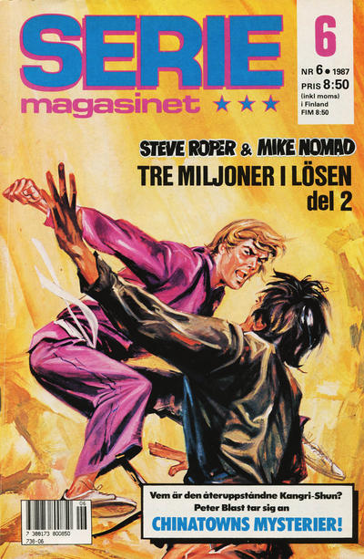 Cover for Seriemagasinet (Semic, 1970 series) #6/1987