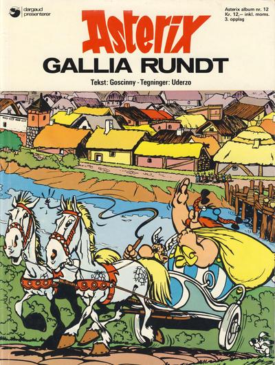 Cover for Asterix (Hjemmet / Egmont, 1969 series) #12 - Gallia rundt [1. opplag]