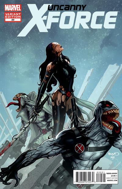Cover for Uncanny X-Force (Marvel, 2010 series) #20 [Venom Variant Cover]
