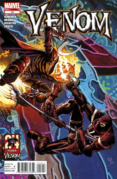 Cover for Venom (Marvel, 2011 series) #12 [Direct Market Venom Variant Cover by Mike Del Mundo]