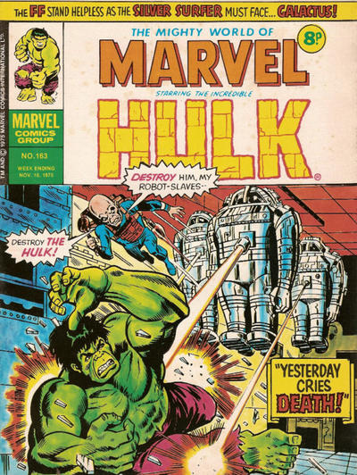 Cover for The Mighty World of Marvel (Marvel UK, 1972 series) #163
