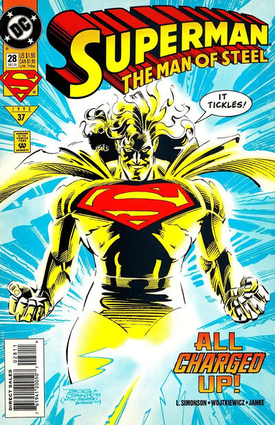 Cover for Superman: The Man of Steel (DC, 1991 series) #28 [Newsstand]