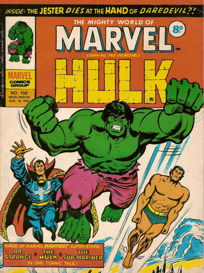 Cover for The Mighty World of Marvel (Marvel UK, 1972 series) #150