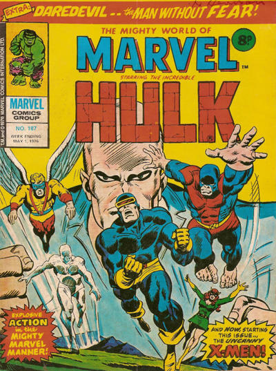 Cover for The Mighty World of Marvel (Marvel UK, 1972 series) #187