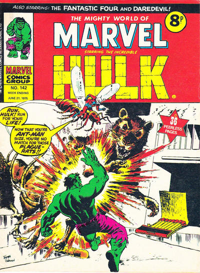 Cover for The Mighty World of Marvel (Marvel UK, 1972 series) #142
