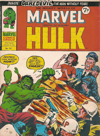 Cover for The Mighty World of Marvel (Marvel UK, 1972 series) #121