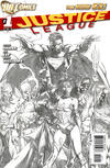 Cover for Justice League (DC, 2011 series) #1 [David Finch Sketch Cover]