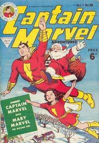 Cover Thumbnail for Captain Marvel [Captain Marvel Adventures] (L. Miller & Son, 1953 series) #v1#19