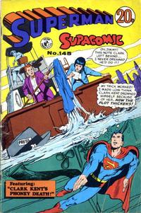 Cover Thumbnail for Superman Supacomic (K. G. Murray, 1959 series) #145