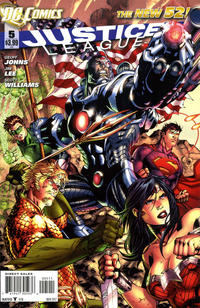 Cover for Justice League (DC, 2011 series) #5 [Jim Lee Cover]