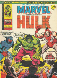 Cover Thumbnail for The Mighty World of Marvel (Marvel UK, 1972 series) #103