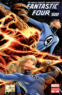 Cover Thumbnail for Fantastic Four (Marvel, 2012 series) #600 [Quesada Variant Edition]