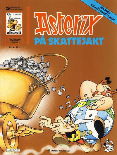 Cover for Asterix (Hjemmet / Egmont, 1969 series) #13 - Asterix på skattejakt