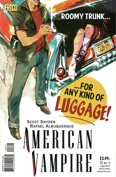 Cover for American Vampire (DC, 2010 series) #23