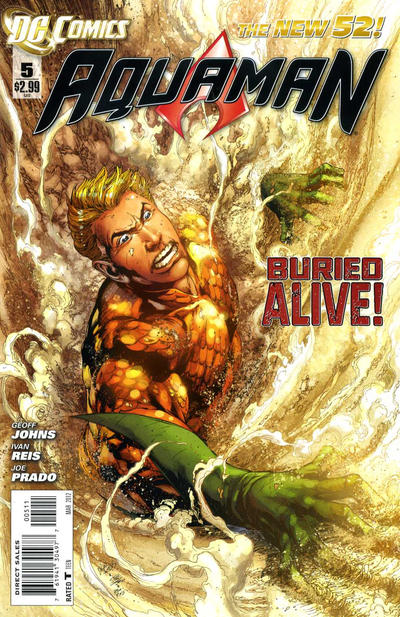 Cover for Aquaman (DC, 2011 series) #5