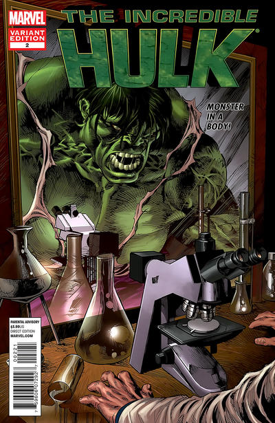 Cover for The Incredible Hulk (Marvel, 2011 series) #2 [Direct Market Sketch Variant Cover by Marc Silvestri]