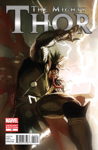 Cover for The Mighty Thor (Marvel, 2011 series) #10 [Venom Variant]