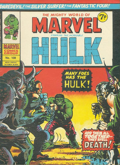 Cover for The Mighty World of Marvel (Marvel UK, 1972 series) #108