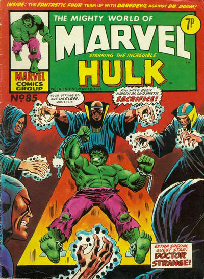 Cover for The Mighty World of Marvel (Marvel UK, 1972 series) #85