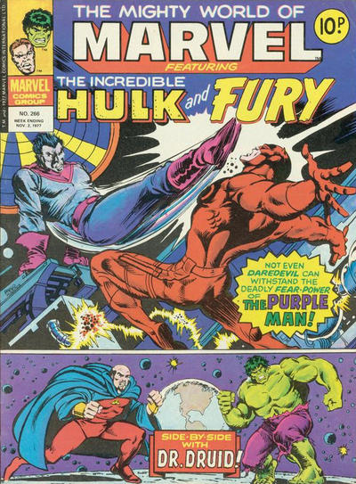 Cover for The Mighty World of Marvel (Marvel UK, 1972 series) #266