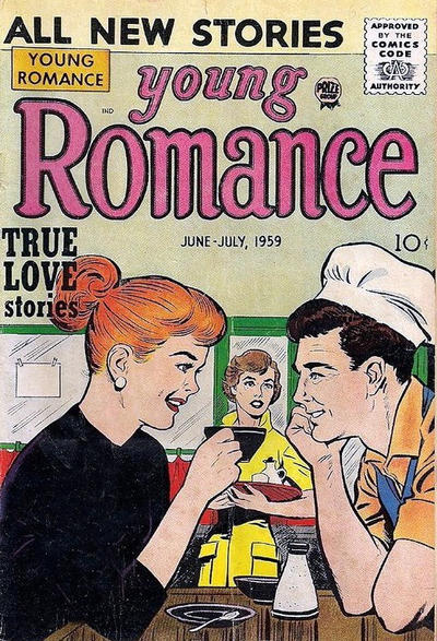 Cover for Young Romance (Prize, 1947 series) #v12#4 [100]