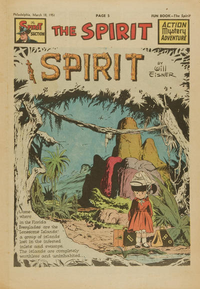 Cover for The Spirit (Register and Tribune Syndicate, 1940 series) #3/18/1951
