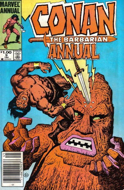 Cover for Conan Annual (Marvel, 1973 series) #9 [Newsstand Edition]