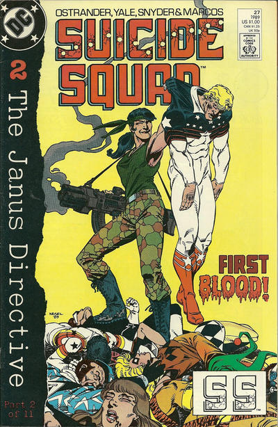 Cover for Suicide Squad (DC, 1987 series) #27 [Newsstand Edition]