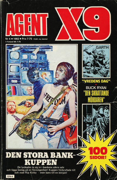Cover for Agent X9 (Semic, 1971 series) #4/1982
