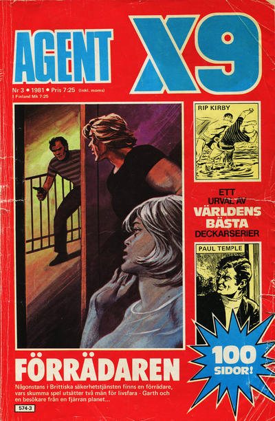 Cover for Agent X9 (Semic, 1971 series) #3/1981