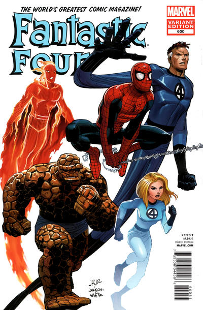 Cover for Fantastic Four (Marvel, 2012 series) #600 [Direct Market Variant Cover by Arthur Adams]